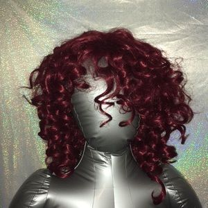 Accessories - Red/ Maroon Curly Wig